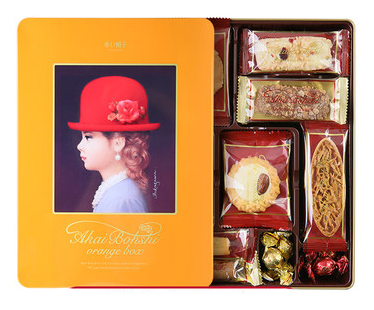 日本进口零食红帽子饼干礼盒--Red hat biscuit gift box for Japanses snacks